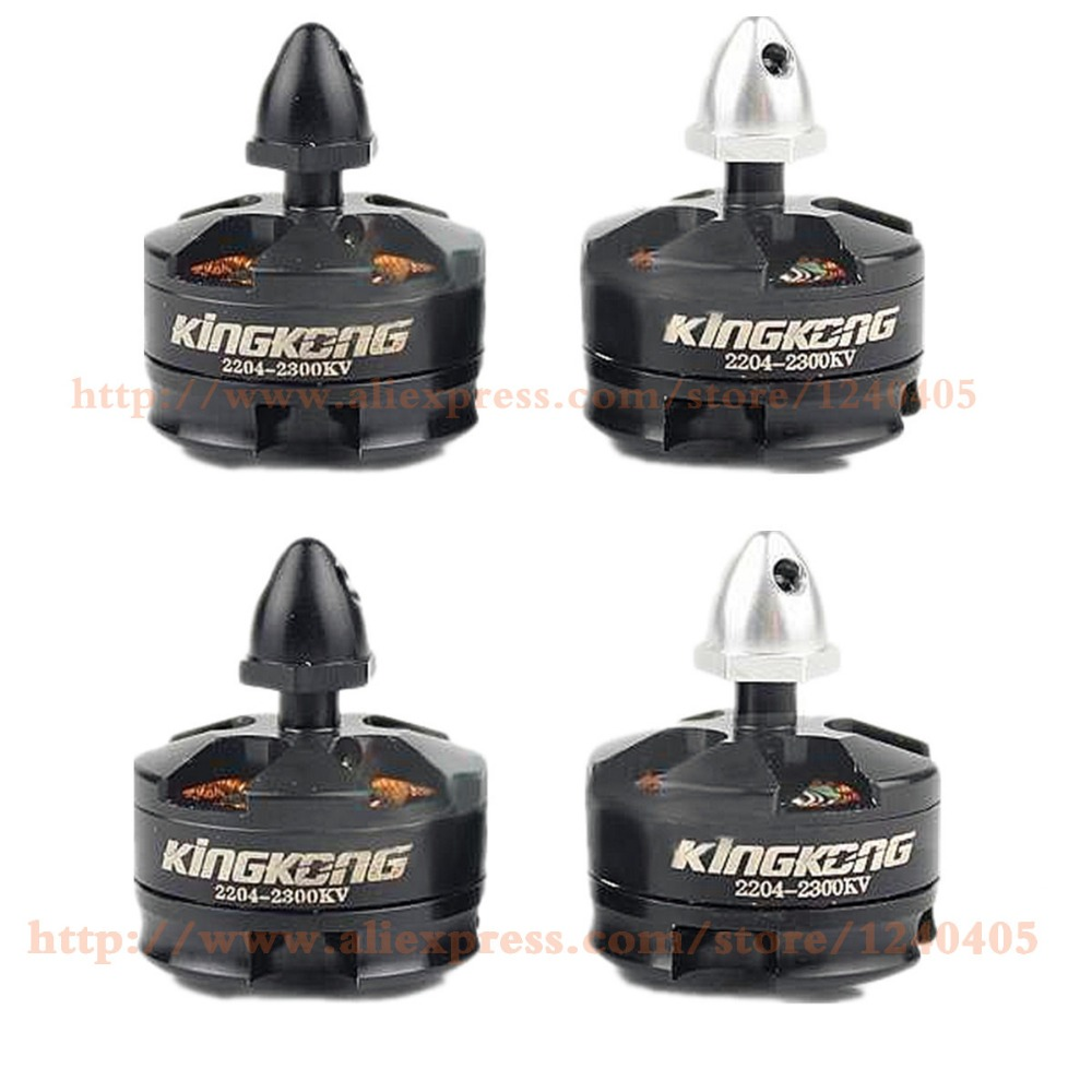 4 Pcs LDARC MT2204 2300KV Brushless De Refroidissement Moteur CW CCW 2 S à 3 S Fit Kingkong Mini QAV250 ZMR250 260 Quadcopter