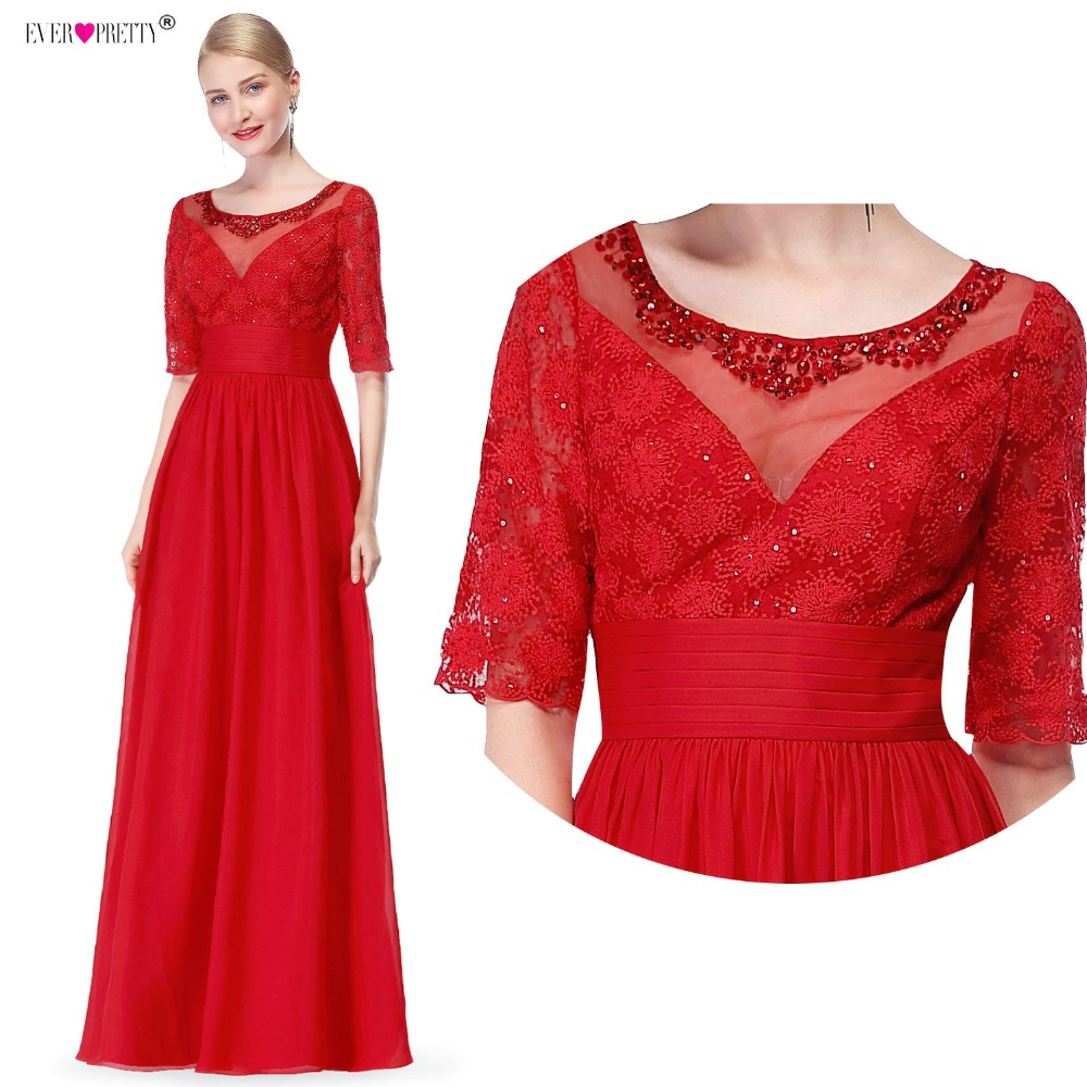 Ever Pretty Mother Of The Bride Dresses Women EP08655 Half Sleeve Crystal  Wedding Party Floor Length 1017ed6e8bd0