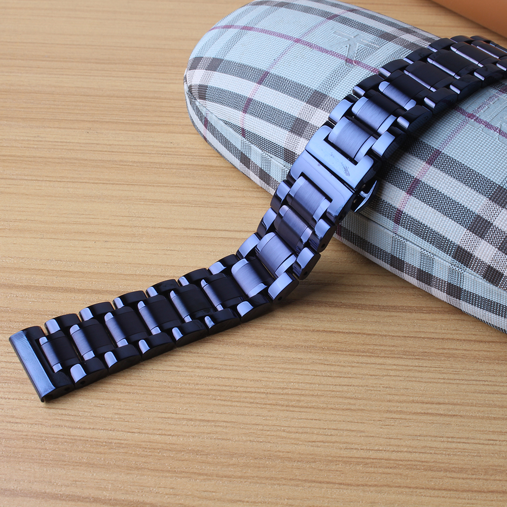 Blue Watchband Stainless steel Metal Watch Band Bracelet strap 20mm 22mm straight end for Men Women Watches new arrival fashion top quality new stainless steel strap 18mm 13mm flat straight end metal bracelet watch band silver gold watchband for brand