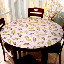 купить Custom made Pvc round tablecloth Colored leaves Soft glass PVC Round table mat waterproof oil-proof Anti-hot dining table mat по цене 963.94 рублей