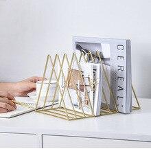 Железные художественные файлы журнальная стойка офисные товары для использования настольная подставка для книг организация данных товарная полка