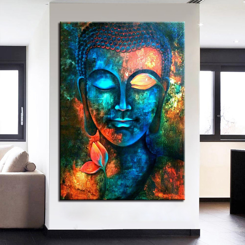 Модульная картина живопись Будда Холсты для рисования модульная Домашний Декор Рамки Tableau современные стены Книги по искусству для Гостиная
