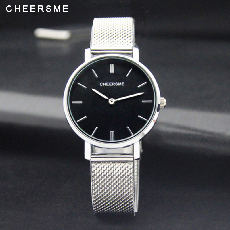 Cheersme Fashion Women Wristwatch Casual Ultra-thin Dial Luxury Alloy Strap Business Style Ladies Quartz Watch 2017 Hot Clock hot luxury brand fashion orologio donna fashion business watch women casual leather clock female quartz ladies wristwatch