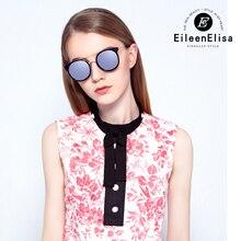 Round EE Brand Sunglasses Women Designer Oculos De Sol Feminino With Logo Round Full Frame Metal High Quality Sun Glasses Women