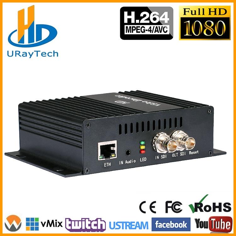 DHL Free Shipping H.264 SD HD 3G SDI To IP Encoder Video Streaming Encoder H264 IPTV Live Streaming RTSP RTMP Encoder