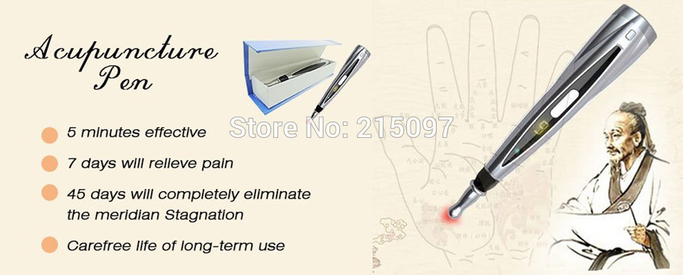 Meridian Energy Acupuncture Pen Laser Electronic Pulse Analgesia Therapy Machine Body Massager Pen Pulse Monitor Pain Relief meridian energy acupuncture pen laser