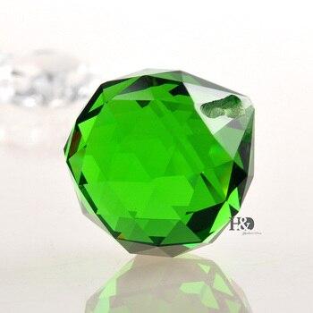 50 pcs/lot Green 30mm Crystal Ball Chandelier Prisms Pendant Lamp Parts Suncatcher Windchimes