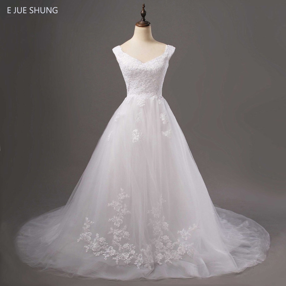 Sweetheart Wedding Dress With Cap Sleeves: Aliexpress.com : Buy E JUE SHUNG White Vintage Lace