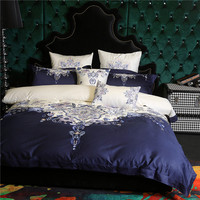 4/7pcs Luxury Bedding Set 100S Egyptian cotton Bedding Sets Bed Sheet Embroidery Bedding Sets Duvet Cover