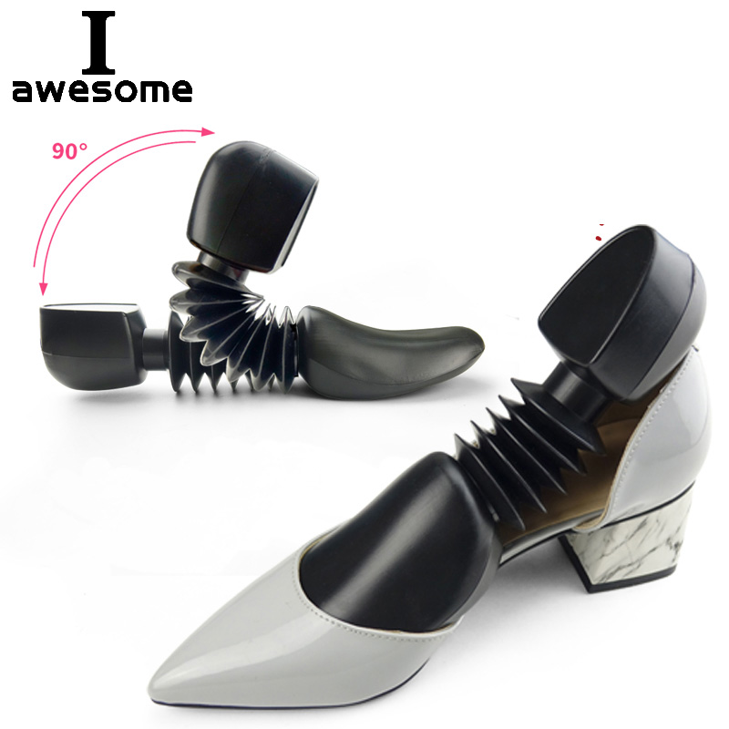 1 Pair 2 pcs Adjustable Plastic Spring Shoe Tree Shaper Keeper Stretcher Men