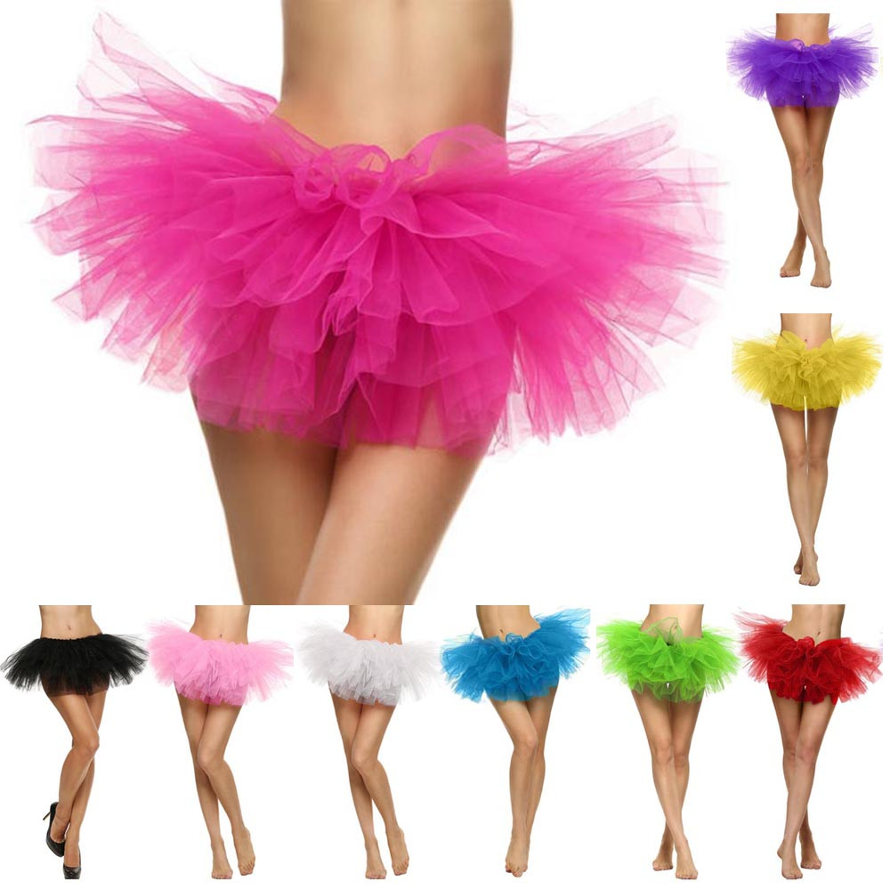 2019 MAXIORILL NEW Hot Sexy Fashion Pretty Girl Elastic Stretchy Tulle Adult Tutu 5 Layer Skirt Wholesale T4 15