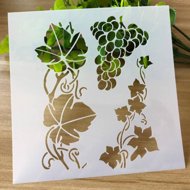 Grape Teng Stencil For Drawing Template Scrapbooking Album Drawing Painting Mesh Bullet Journal Stencils For Paint Crafts Decor