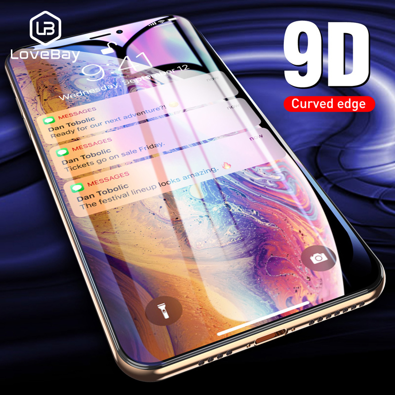 Lovebay 9D Tempered Glass For iPhone 6 6s 7 8 Plus X XR XS Max Screen Protector Full Cover Protective Glass For iPhone X CoverLovebay 9D Tempered Glass For iPhone 6 6s 7 8 Plus X XR XS Max Screen Protector Full Cover Protective Glass For iPhone X Cover