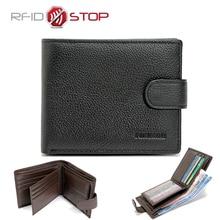 Fonmor бренд RFID кошелек Пояса из натуральной кожи Для мужчин Женские Кошельки с карманом для монет RFID защиты человека кошельки Путешествия зажим для денег