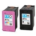 2 HP COMPATIBLE 61 BLACK 61 COLOUR Deskjet 1000 1010 1510 2050 2540 3050 CH561W CH562 Envy 4500 4504 5530 INKJET PRINTER