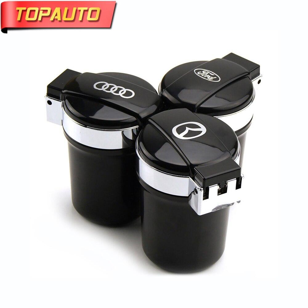 TopAuto Car Ashtray Black Auto Cigarettes