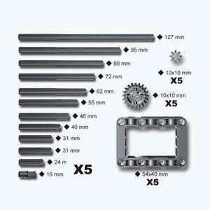 Image 3 - 81ชิ้น/เซ็ตกล่องTechnic Electric PFชิ้นส่วนขนาดกลางXLขนาดใหญ่มอเตอร์สายไฟพวงมาลัยL * Goes Alex Beamเกียร์64179