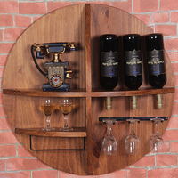 Do the old wall Wine Nordic retro frame wood frame bar storage cabinet wine goblet