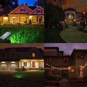 6W LED Solar landscape lighting XL-H11 Star Projectors lawn Decorative Lighting Laser lights solar Christmas lights