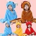 El otoño y el invierno bebé capa capote del bebé del estilo animal de dibujos animados de franela mantas toalla de baño parisarc bebé suministros