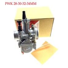 JINGBIN PWK28 pwk 28 30 32 34mm Bộ Chế Hòa Khí Xe Máy ATV Buggy Quad Go Kart Bụi Bẩn Xe Đạp phản lực thuyền phù hợp với 2 T 4 T CHẠY BỘ DIO