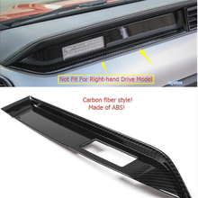 Lapetus ABS The Co-pilot Instrument Panel Decoration Frame Cover Trim Carbon Fiber Style Fit For Ford Mustang 2015 - 2019 цены онлайн