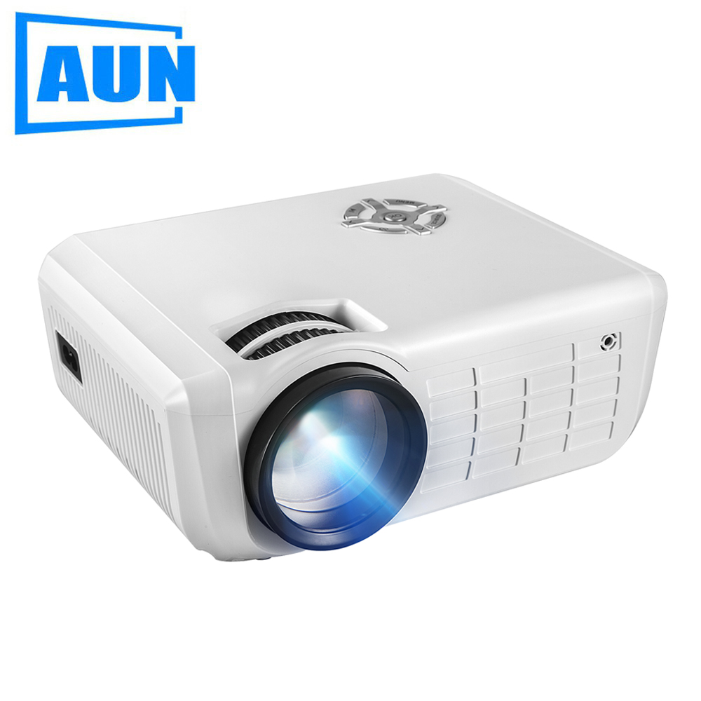 AUN LED Projector, 2,000 Lumens Multimedia Video Projector for Home Theater. MINI Proyector 1080P. Set in HDMI SD USB,M28 hot selling 2017 new 1800lumens led mini home multimedia projector 1080p hd hdmi usb video high quality mar30