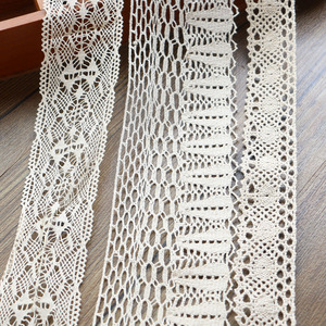 Image 5 - 2 6CM 5 yards Beige lace high qualit  lace cotton lace sewing Home Furnishing garment accessories DIY material