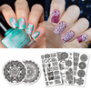 5Pcs BORN PRETTY Stamp Plate Mandala Series Stamping Template Round Rectangle Nail Art Image Plate
