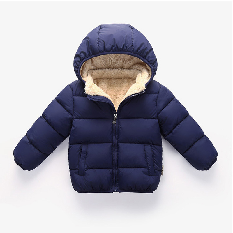Baby Girls & Boys Winter Jackets Kids Thickening Padded Coat Toddler Outerwear Clothes Children Warm Jackets For Girls 1-5Y(China)