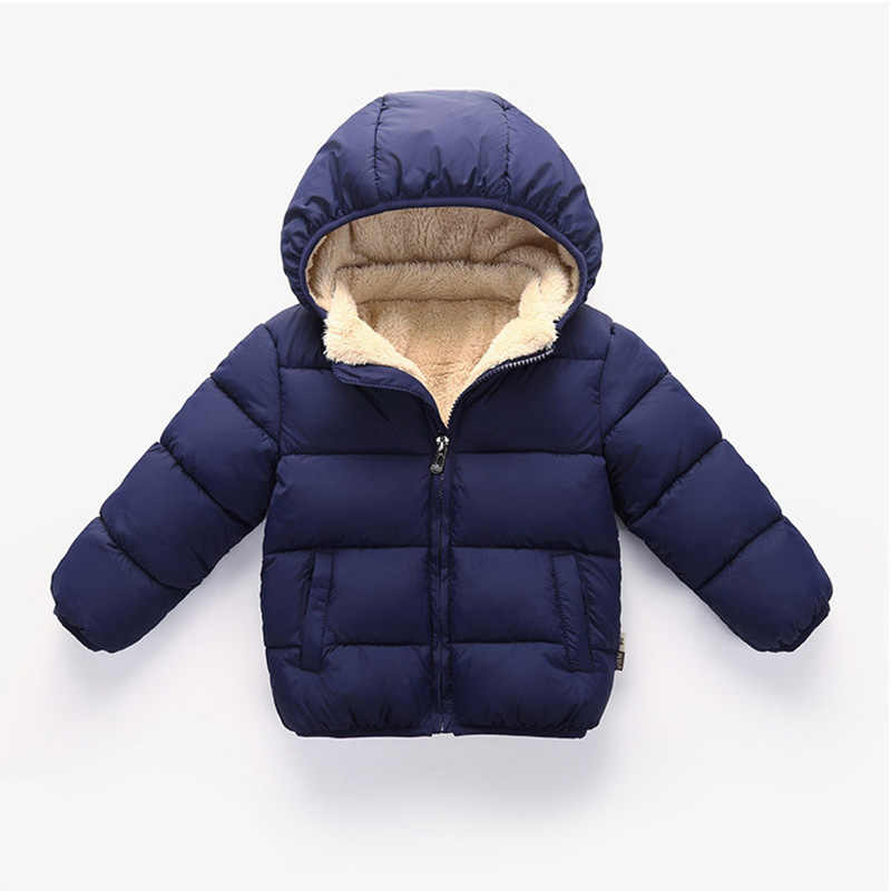 Baby Girls & Boys Winter Jackets Kids Thickening Padded Coat Toddler Outerwear Clothes Children Warm Jackets For Girls 1-5Y