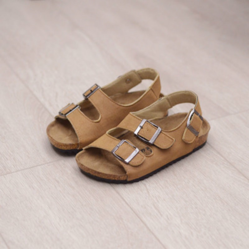 Candy Color Children Sandals Boy Girls Comfortable Cork Shoes Summer Kids Sandals Beach Shoes Baby and Mum Fashion Shoes 22-39