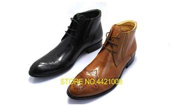 Con OxfordsBotas Tacón Hombre De Vestir Zapatos Para Cordones Alto rdWxoeCB