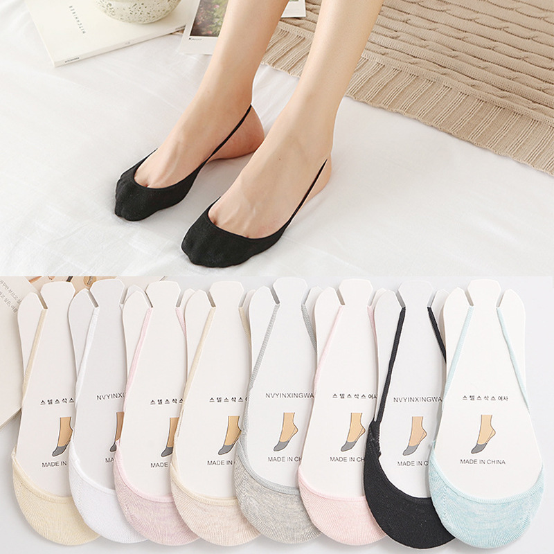 Sock Slippers 1pairs Summer Semi Palms Boat Socks Cotton Solid High-heeled Shoes Invisible Women Socks Breathable Casual Ladies Funny Acrylic