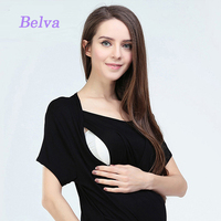 Modal Cotton 2017 O Neck Maternity Clothing Shirt Top Breastfeeding Nursing Tops Pregnancy shirts Clothes for Pregnant Women 635