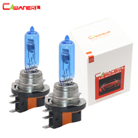 Cawanerl 2 Pieces 55W H15 Halogen Bulb 4300K 12V Warm White Car Headlight DRL Fog Daytime