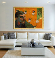 Strong Painter Team 100%Hand painted Paul Gauguin Self Portrait Dedicated to Vincent van Gogh Oil Painting On Canvas