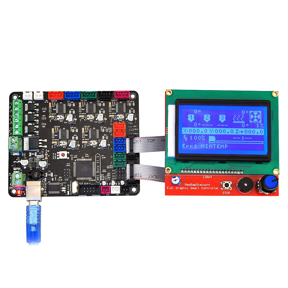 3d Printer Controller Board Mks Base V15 With Mega 2560 R3 Ramps14 Motherboard Reprap 12864 Lcd In Parts Accessories From