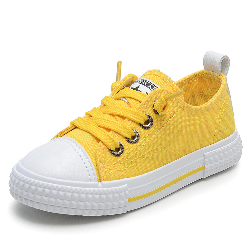 Kids Girls Canvas Shoes Pojkar Casual Sneakers Fashion Candy Colors Studenter Andasbara Casual Flat Barn Running Shoes