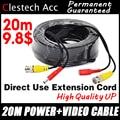 3 28 BigSale 20m Video + Power Kabel Sicherheit Kamera Drähte für CCTV DVR Surveillance System mit BNC DC Anschlüsse erweiterung-in Getriebe & Kabel aus Sicherheit und Schutz bei