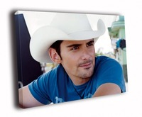 HD Canvas Printings Painting Brad Paisley Hot Portrait Country Music Art D5109