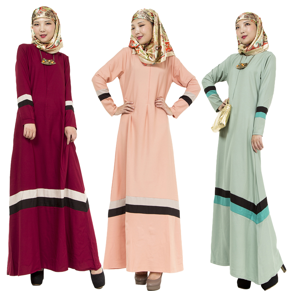 Bubble Tea Wanita Muslim Long Dress Abaya Islamic Kaftan Dubai Turki Malaysia Mode Jubah 3 Warna Cocktail Evening Dresses