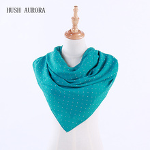 New Stylish Girl Long Soft Chiffon Scarf With Accessories  Wrap Polka Dot Shawl Scarve For Women stylish sleeveless polka dot chiffon dress for women