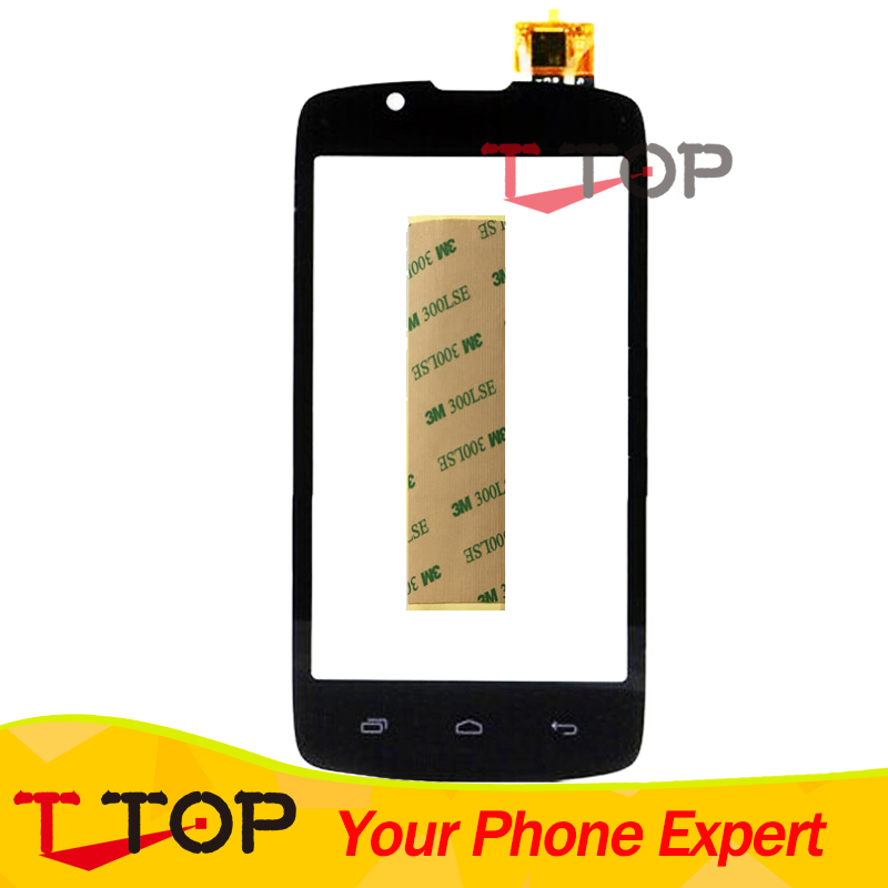 Touch Screen For Fly IQ4490 ERA Nano 4 IQ 4490 Front Glass Touch Panel Digitizer Black Color 1PC/Lot