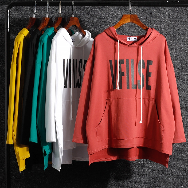 2019 Top Kpop automne à manches longues t-shirt femmes décontracté nouveau Style tricoté lettre imprimé poches à capuche