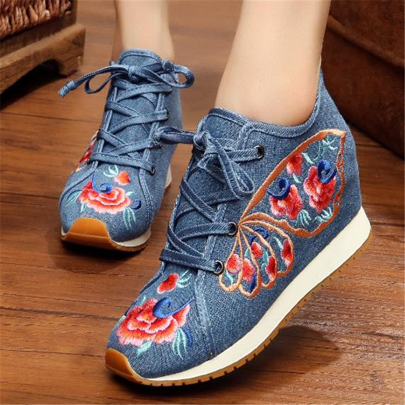 Tourism sole leisure embroidered shoes