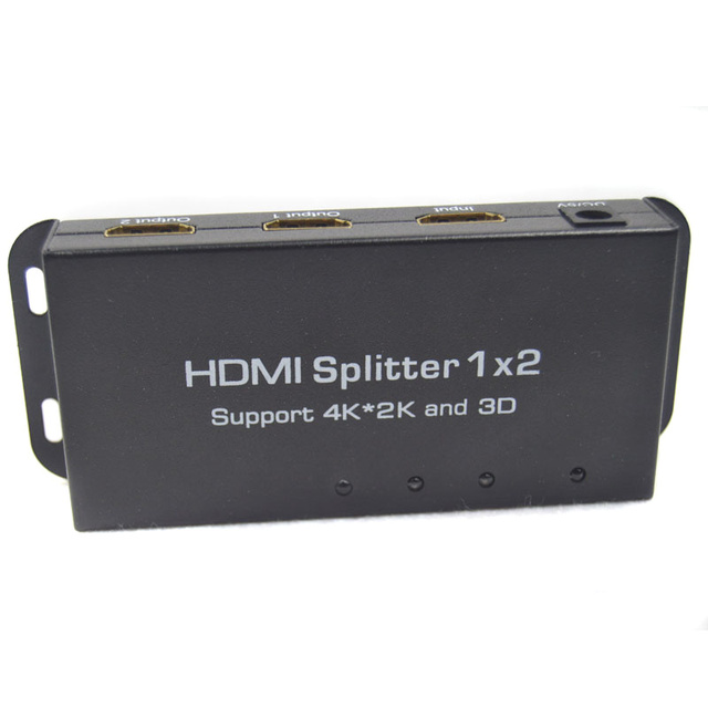 BrankBass 3D 1080 P 1x2 Hdmi Splitter 1 HDMI Вход 2 HDMI Выход HDMISwitch с DC 5 В 1A Адаптер Питания Switcher