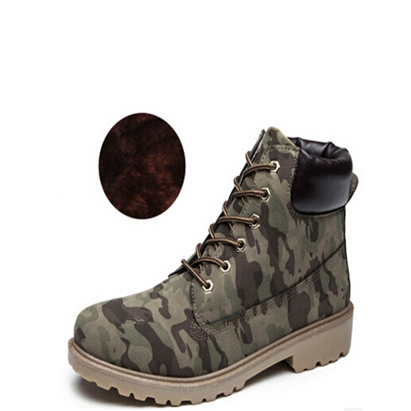 Women Camouflage Ankle Boots Shoes Canvas Women Army Boots Fashion Martin Boots Casual Boats New 2017