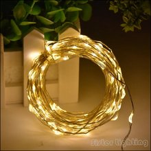 10M 33FT 100 led 3 AA Battery Box LED Silver/Copper Wire Fairy String Lights Lamps for Christmas Holiday Wedding Party