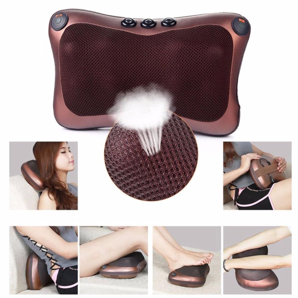 Voiture maison bureau 6 têtes thérapie magnétique électronique cou masseur cou épaule dos taille Massage oreiller coussin chaud